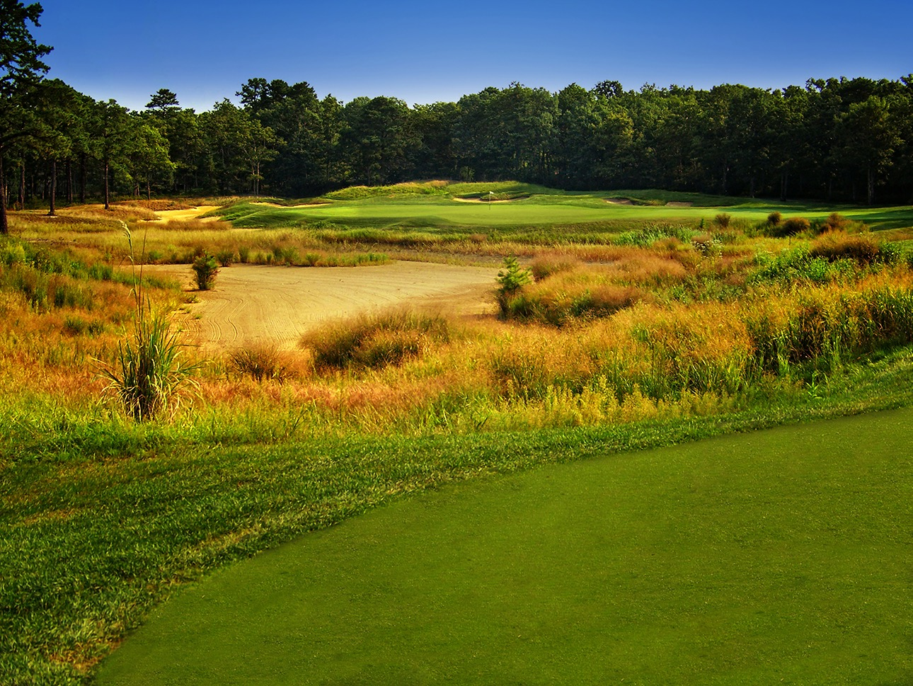 The Sea Oaks Golf course, Hole 7. Sea Oakes is on of the many reasons clubs trust Ray Hearn as one of the top golf course design firms.